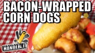 LEARN HOW TO COOK - Bacon-Wrapped Corn Dogs - Handle-It