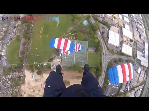 raf - The RAF Falcons are a parachute team of ten men who are experts in their field. They recently attached cameras to their helmets for British Forces News as th...