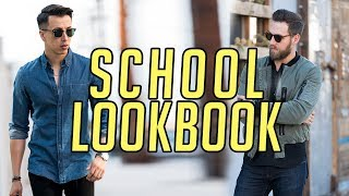 6 Back to School Looks for High School and College  Men's Fashion Lookbook 2017 The looks: George's - Look 1: Shirt ...