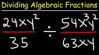 This math video tutorial explains the process of dividing fractions with variables and exponents in addition to simplifying algebraic fractions.  It contains plenty of examples and practice problems including the keep change flip principle to convert the division of fractions into the multiplication of fractions.Pre-Algebra Video Playlist:https://www.youtube.com/watch?v=WJqw-cxvKgo&list=PL0o_zxa4K1BVoTlaXWFcFZ7fU3RvmFMMGAlgebra Online Course:https://www.udemy.com/algebracourse7245/learn/v4/overviewAccess to Premium Videos:https://www.patreon.com/MathScienceTutor