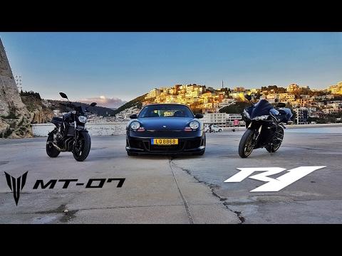 Yamaha MT-07 vs Yamaha R1  // 2017