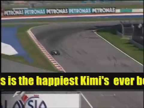 Kimi's 1st win - As happy as he'll ever be
