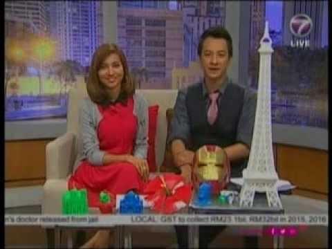 3D Printer UP! - NTV7 Malaysia (видео)
