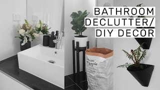 Bathroom Decluttering + DIY Decor // Rachel Aust