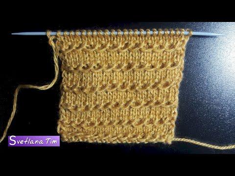 Вязание на спицах горизонтальный узор
