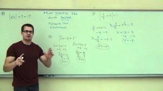 Intermediate Algebra Lecture 9.2