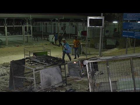 Λέσβος: Επεισόδια και καταστροφική πυρκαγιά στο hot spot της Μόριας