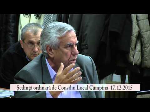 Sedinta Consiliul Local Campina – 17 decembrie 2015 – partea a IV-a