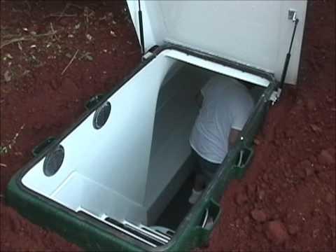 Storm Shelters - Tour of an Installed Underground Huntsville Tornado Lifesaver Storm Shelter (LS-12)