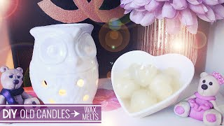 DIY ♡ Recycle Old Candles into Wax Melts ♡ Stefy Puglisevich - YouTube