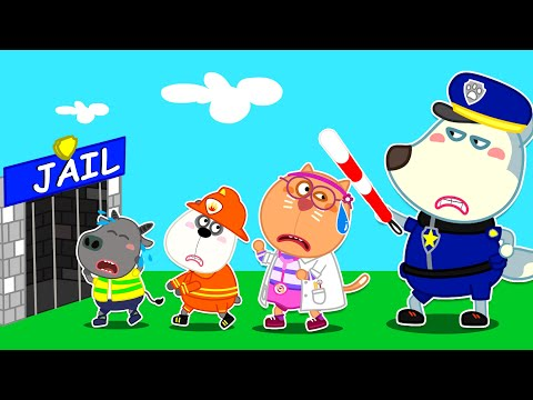 Oh No! Police Wolfoo Catches Doctor & Fireman - Pretend Play | Wolfoo Family Kids Cartoon