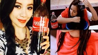 Coca Cola Hair Rinse For Softer, Fuller, Frizz Free Hair- Does it work? - YouTube
