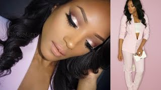Hey lovelies! Get ready with me as I prepare for the Essence Black Women in Hollywood Luncheon! This is a glitter pink cut crease glam look which is perfect ...