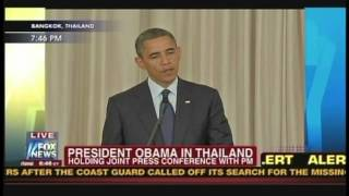 President Obama Prime Minister Yingluck Shinawatra Bangkok Thailand (November 18, 2012) [3/4]