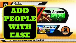 2 ways to add people your battling/battled in Smash