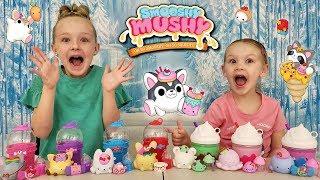 Opening New Smooshy Mushy Sugar Fix Squishies! Squishy Toy Unboxing!
