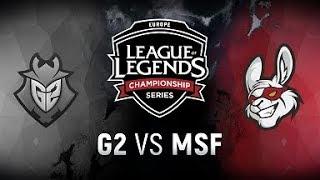 Video G2 vs. MSF  - Week 1 Day 1 | EU LCS Spring Split |  G2  vs. Misfits (2018) MP3, 3GP, MP4, WEBM, AVI, FLV Juni 2018