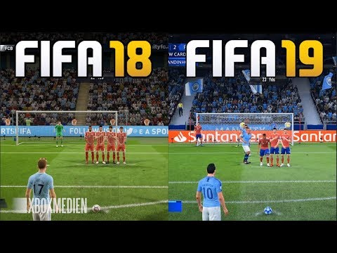FIFA 19 Vs FIFA 18 Gameplay Comparison (Xbox One, PC, PS4)