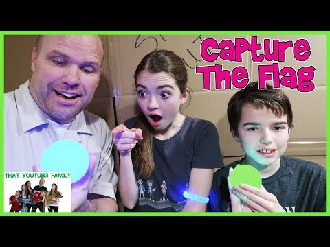 Capture The Flag In Huge Box Fort Maze! / That YouTub3 Family