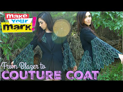 Thrift Store Coat Makeover