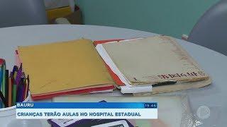 Hospital Estadual inaugura sala de aula para pacientes internados