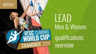 IFSC Climbing World Cup Chamonix 2016 - Qualifications Overview by International Federation of Sport Climbing