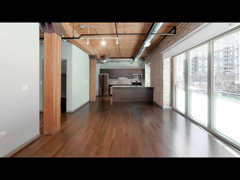 Tour a spacious studio apartment at The Lofts at River East in Streeterville