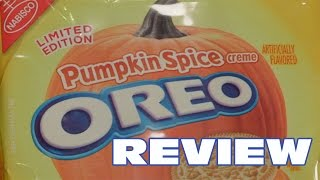 Pumpkin Spice Oreo Cookie Review - Oreo Oration - YouTube
