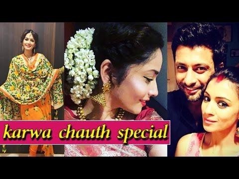 Karan Mehra, Ankita Lokhande : KARWA CHAUTH Of Tel