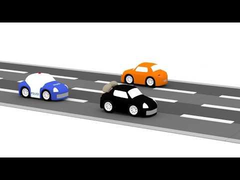Macchinine colorate, la macchinina nera e la banca! | cartoni animati per bambini