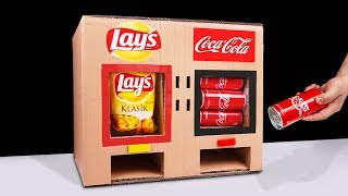 Video DIY How to Make LAY'S Chips and Coca Cola Vending Machine MP3, 3GP, MP4, WEBM, AVI, FLV Maret 2019