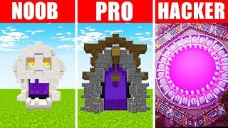 Minecraft NOOB vs. PRO vs. HACKER : ALTERNATE DIMENSION PORTAL in Minecraft!