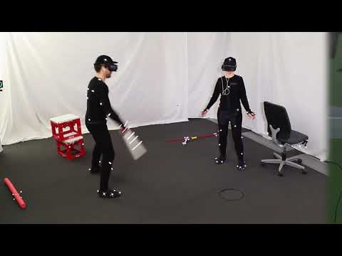 Mutual Human Actuation - Two people in virtual reality playing very different games which tricks them in interacting with each other in the real world. Pretty funny as well.