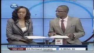 KTN News Desk With Edith Kimani And Bonney Tunya 13th Jan 2014