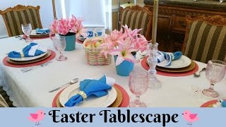 "Join Amy for a Easter Tablescape for 2017. My goal was to create a tablescape on a budget by using what I have on hand as well as some Dollar Tree decorator items. If you are creative, you can put together a beautiful holiday table on a budget! Amy Learns to Cook is all about learning to make simple, tasty food from fresh ingredients.  One year ago, I made a commitment to stop eating processed convenience foods.  I decided to learn to cook ""real"" food. Join me!  Let's learn to cook together! Enjoy! Please share! Please SUBSCRIBE to my channel, LIKE, and leave a COMMENT.Please visit my website: www.amylearnstocook.comAny links in this description, including Amazon, are affiliate links.Life of Riley by Kevin MacLeod is licensed under a Creative Commons Attribution license (https://creativecommons.org/licenses/by/4.0/) Source: http://incompetech.com/music/royalty-free/index.html?isrc=USUAN1400054 Artist: http://incompetech.com/"