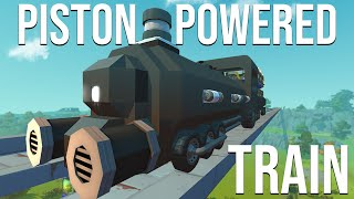 I BUILT A PISTON POWERED TRAIN (GONE WRONG)!! - SCRAP MECHANICS SURVIVAL #29