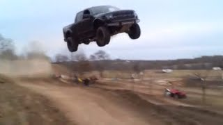 7. Ford Raptor jumps 90 feet!