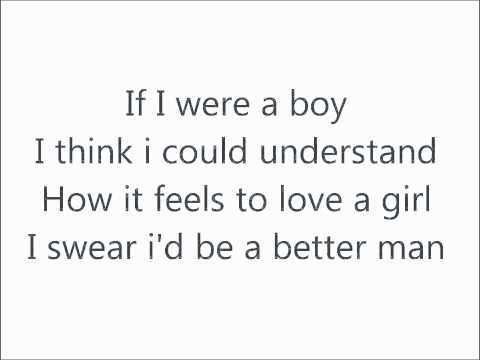Beyonce - If I Were A Boy Lyrics