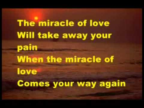 THE MIRACLE OF LOVE   EURYTMICS karaoke