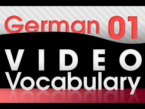 Deutsch lernen - Video Vocabulary # 1