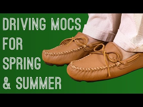 Driving Mocs - Why Handmade Leather Mocassins Are Perfect Casual Spring Summer Shoes & How To Wear