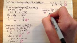 Solving a linear system (with fractional coefficients) with su...