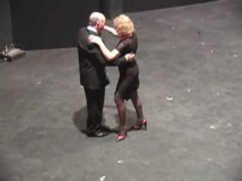 Old Couple dancing Tango