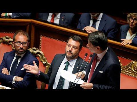 Italien: Conte erklärt Rücktritt, Salvini mit Gegenangriff