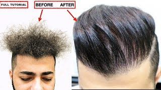 Video CURLY TO STRAIGHT HAIR PERMANENT★ KERATIN TREATMENT★NATURAL HAIR ★ NO ❌ Frizzy Hair, MEN'S HAIRSTYLE MP3, 3GP, MP4, WEBM, AVI, FLV April 2018