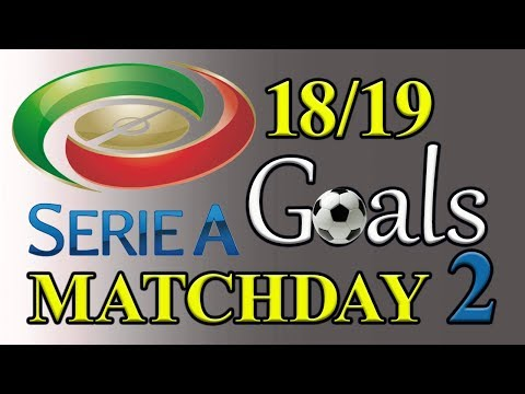 Serie A Season 18/19 Matchday 2 Goal Highlights