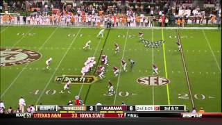 Dallas Thomas vs Alabama (2011)