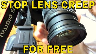 How to stop camera lens zoom creep - A free and easy way to stop lens creep. I show you how to do it on my Canon 650D using a Sigma lens.