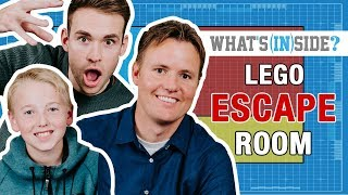 WHAT'S INSIDE...INSIDE A LEGO ESCAPE ROOM! - REBRICKULOUS