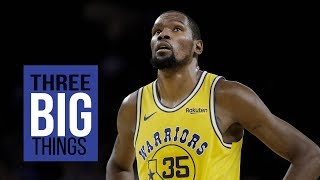 3 BIG THINGS: Warriors lose to Suns and Kevin Durant's ankle injury